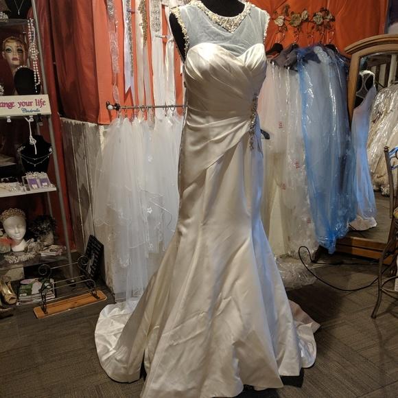 Mary's Bridal Dresses & Skirts - Mary's Bridal trumpet satin beading